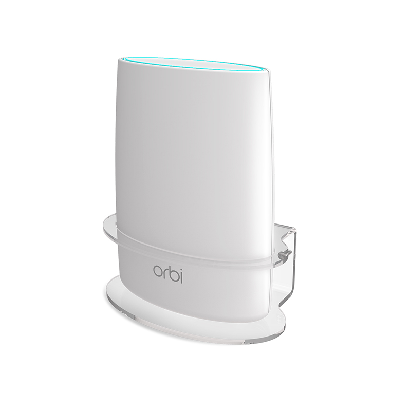 US $17 99 |Myriann Sturdy Clear Acrylic Wall Mount Bracket for NETGEAR ORBI  AC3000/AC2200 Tri Band WiFi Router (1 Pack /2 Packs)-in Smart Accessories