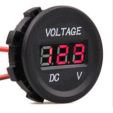 DC12V 24V Car Motorcycle Digital Voltmeter Waterproof  Meter Display Red LED