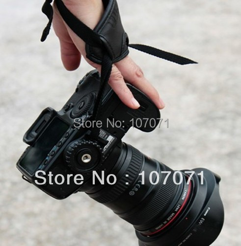 free shiping Brand  High Quality Faux Leather Hand Grip Wrist strap  Photo Studio Accessories for Camera fit Nikon/ Canon/Sony