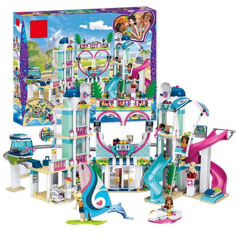 2018 новый совместимый legoing Friends в хартлейк Сити Resort Модель Строительство игрушечный конструктор для девочек Рождественский подарок bithday