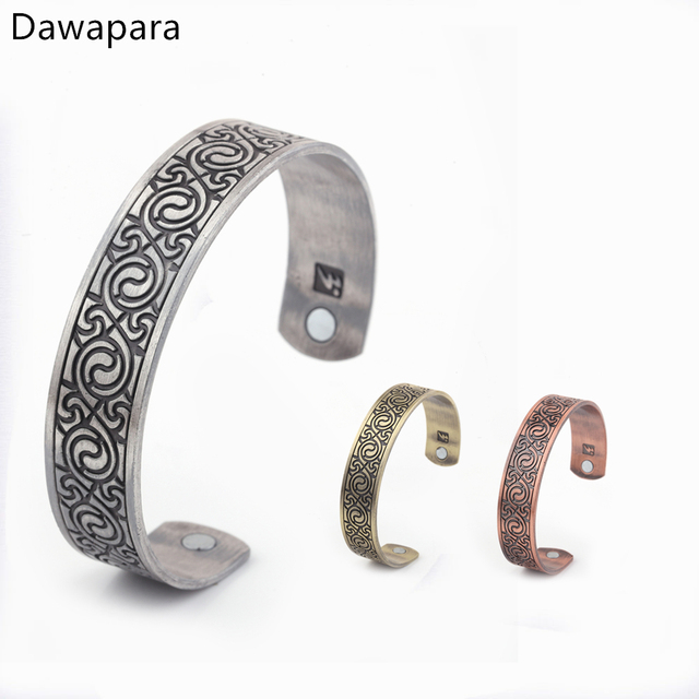 Dawapara 1pcs Health Magnetic Bracelets Bangles Lucky Knot Metal Jewelry For Men Slimming Healthy Stimulating