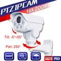 1080 P Мини Пуля IP PTZ Камера 2.0MP 10X Зум Объективом С Автоматической Диафрагмой Pan/Tilt Вращения Открытый ИК 80 М, С POE/Будильник/Аудио Дополнительно