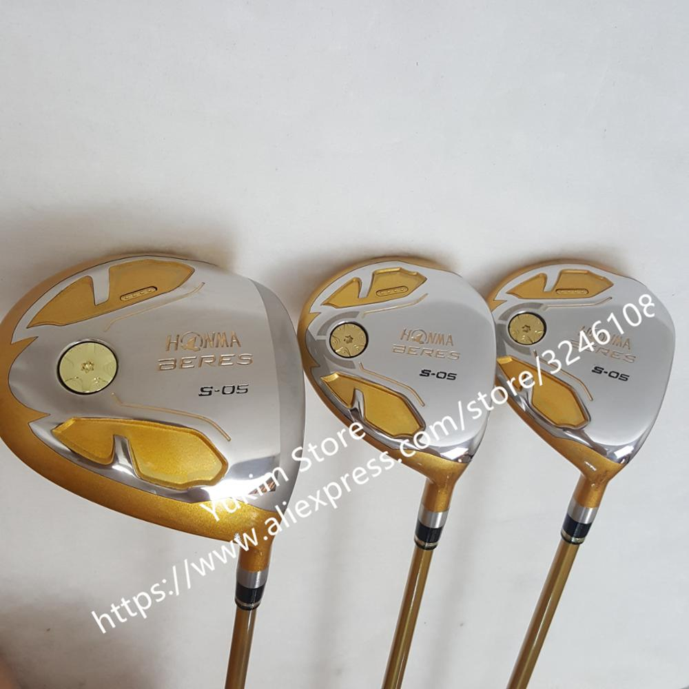купить New mens Golf driver HONMA S-05 4 star driver clubs 9.5 or 10.5 loft Golf Clubs driver with Graphite Golf shaft free shipping по цене 8632.96 рублей