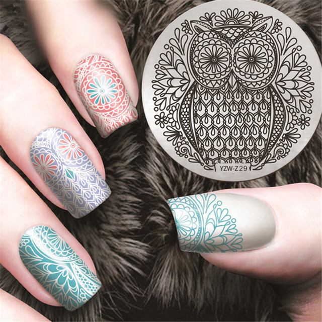 Owl flower Nail Stamping Plates 2017 Spring Nail Art Stamp Plate ...