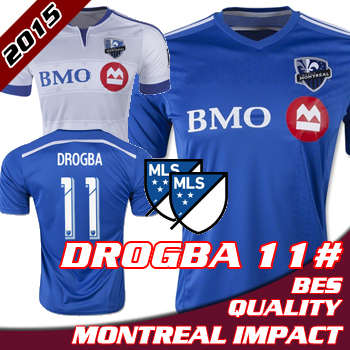 best service 41a53 ed7b0 2015 Montreal Impact home away Soccer jersey DROGBA Montreal ...