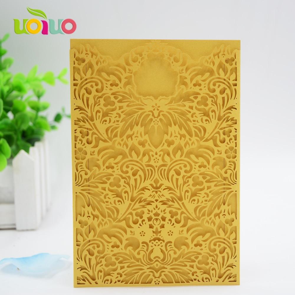 Blush Pink lace pocket wedding invitation card wholesale price