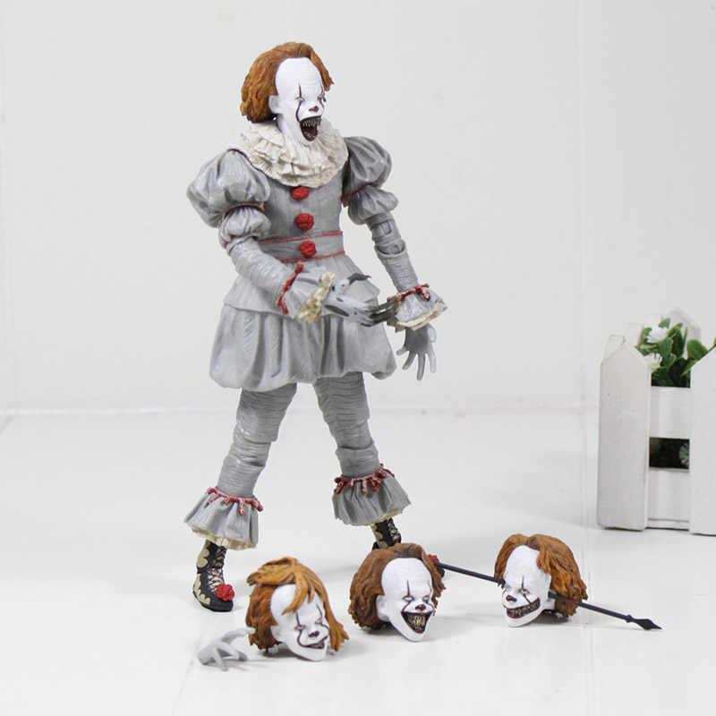 NECA 18cm horro Stephen King's It 페니 와이즈 조커 어릿 광대 BJD 액션 피규어 장난감 인형 코스프레 할로윈 데이 크리스마스