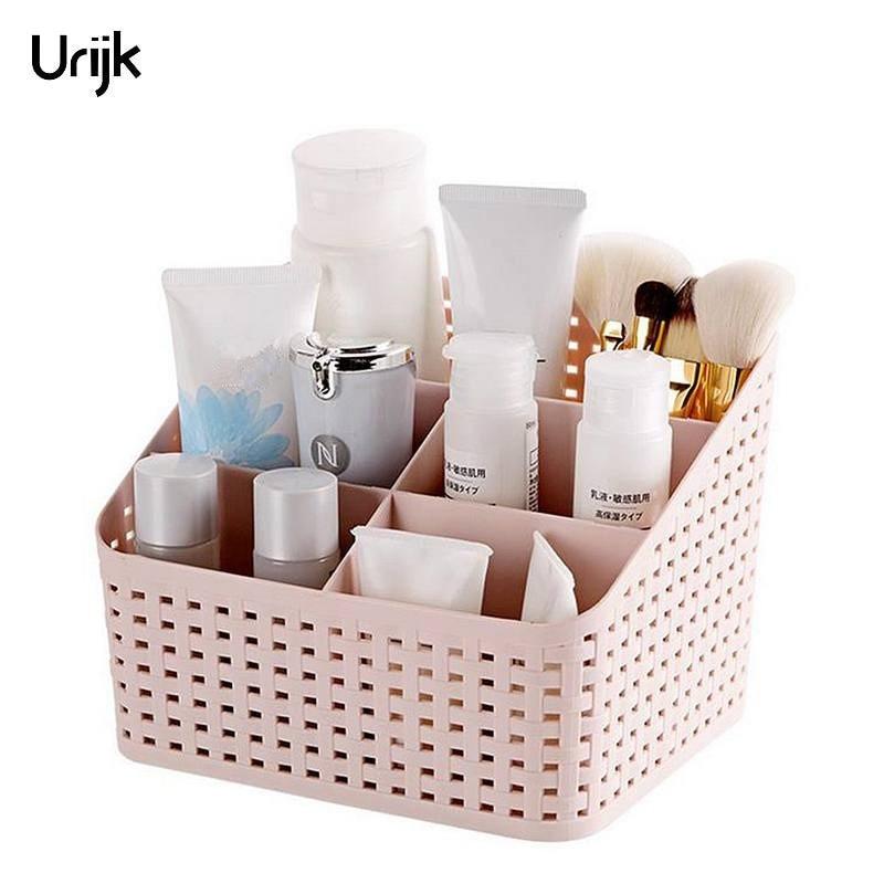 Urijk Makeup Organizer Storage Box Desk Accessories ...