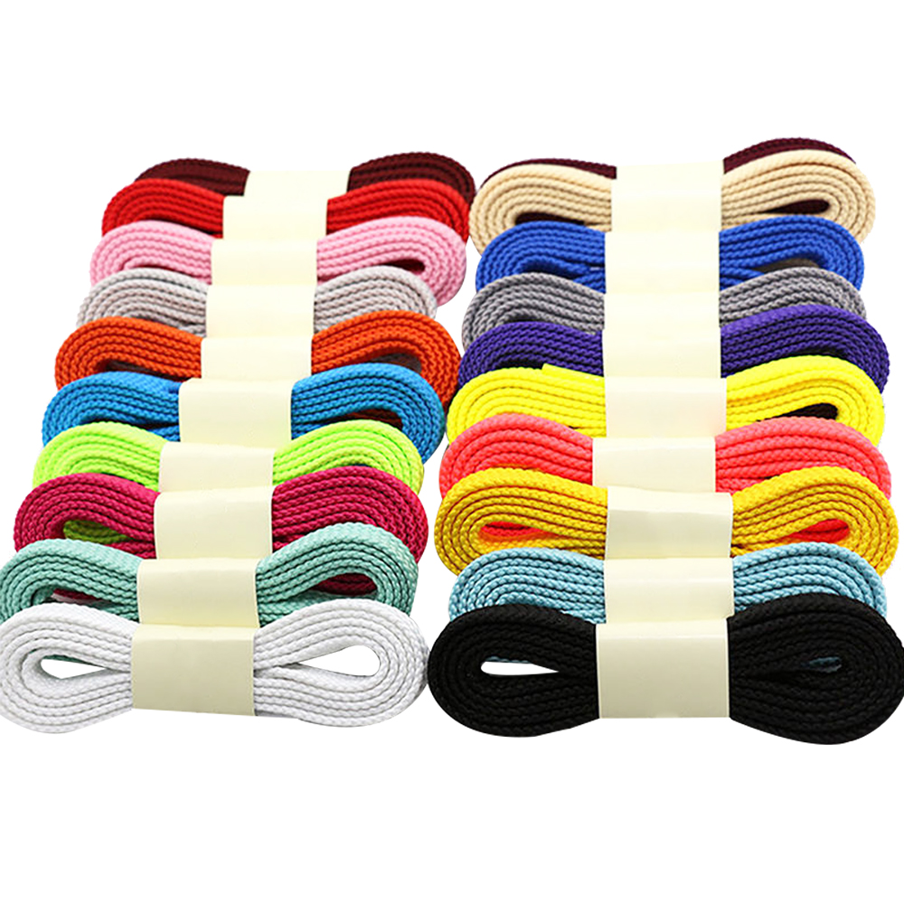 1 Pair Flat Canvas Shoelaces Casual Shoe Laces for Sneakers Sport Shoes 120cm/160cm Polyester e lov women casual walking shoes graffiti aries horoscope canvas shoe low top flat oxford shoes for couples lovers