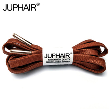 1 Pair Waxed Cotton Flat Shoelaces Leather Shoes Shoestring Boots Shoe Laces Martin Shoelace Metal Head High-grade