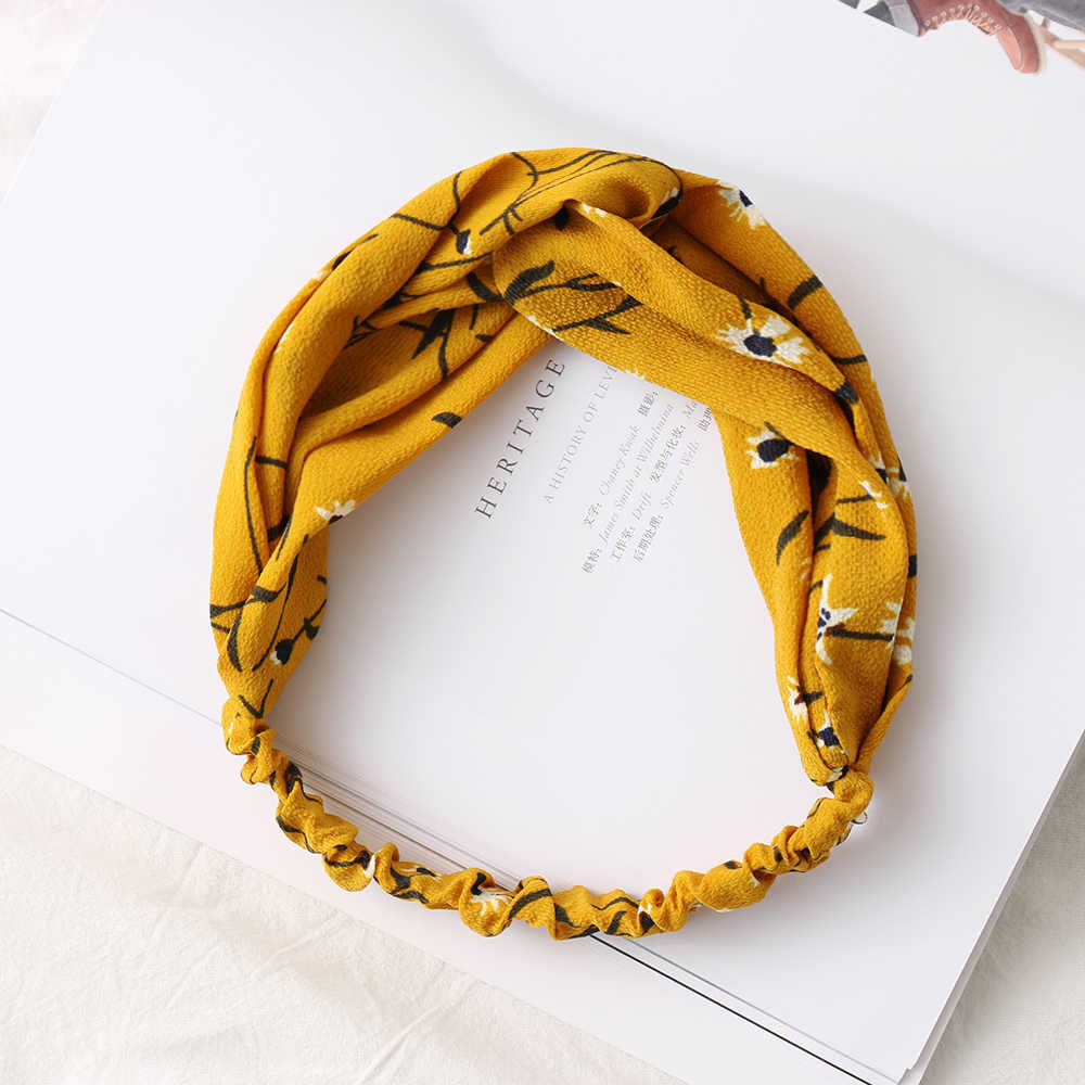 Women Girls Twisted Knotted Headband Flexible Band Hairband Hair Accessories