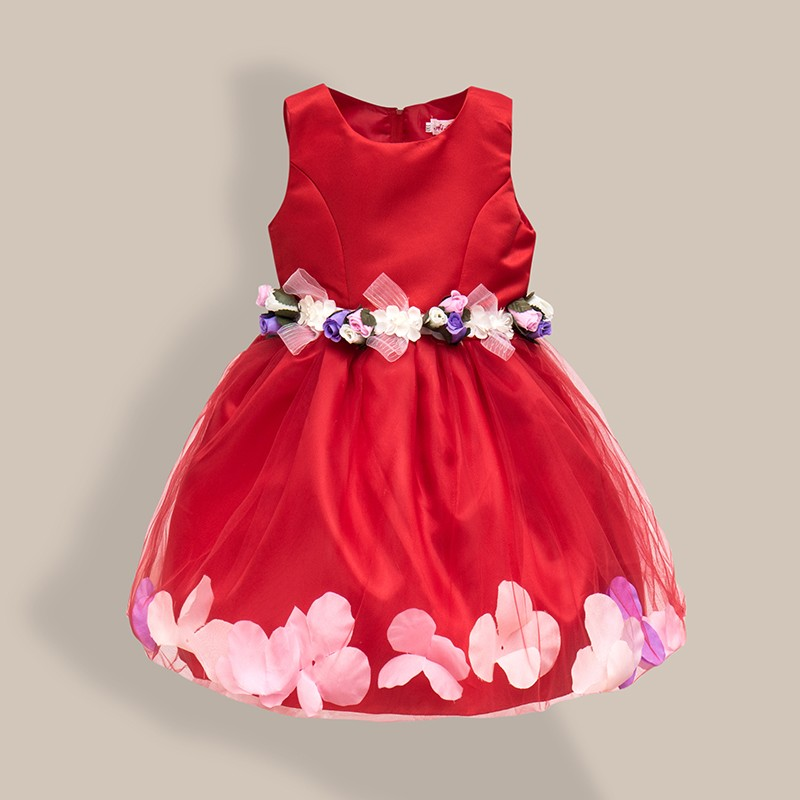 AiLe Rabbit  New Girls Wedding Dress Petal Flower Party Dress - Children's Clothing - Photo 4