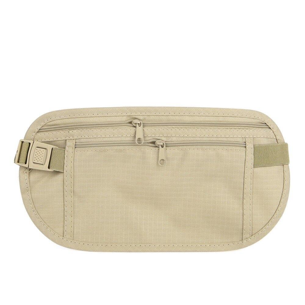 1pc Travel Pouch Hidden Compact Security Money Waist Belt Bag Pocket