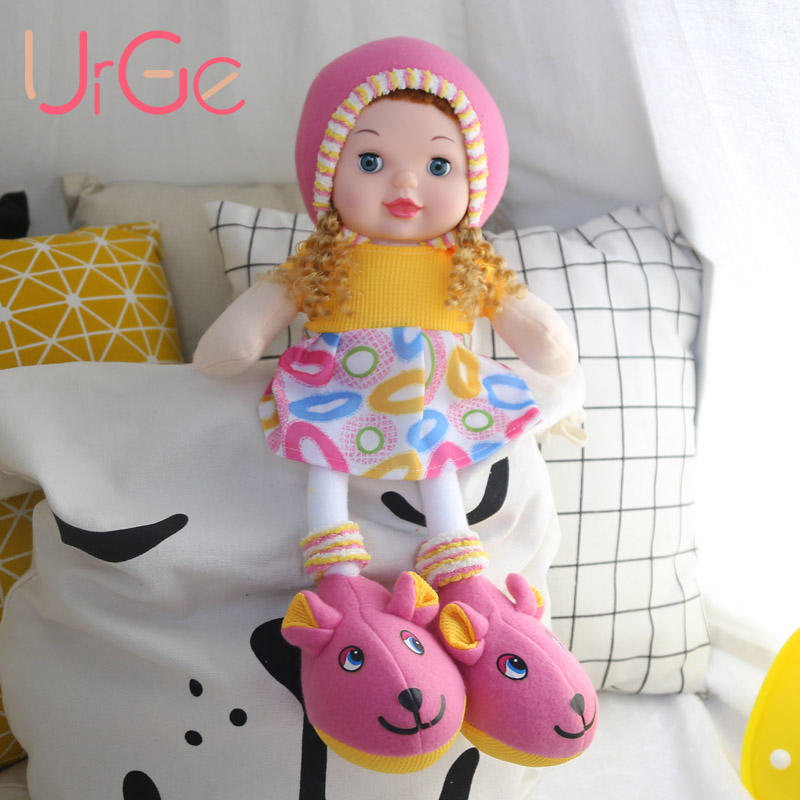 kawaii plush stuffed soft toys long leg big eyes american girl doll baby sleeping appease toys