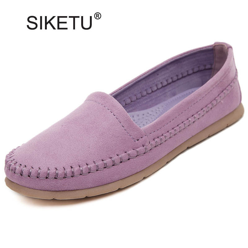 New Women Casual Slip-on Flats Vintage Round Toe Flat Moccasins Loafers For Women Ladies Casual Flats Size 35-41 Shoes Woman odetina 2017 new women pointed metal toe loafers women ballerina flats black ladies slip on flats plus size spring casual shoes
