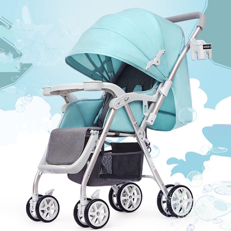 Детская прогулочная коляска, многофункциональная алюминиевая, Легко складная детская коляска с четырьмя колесами