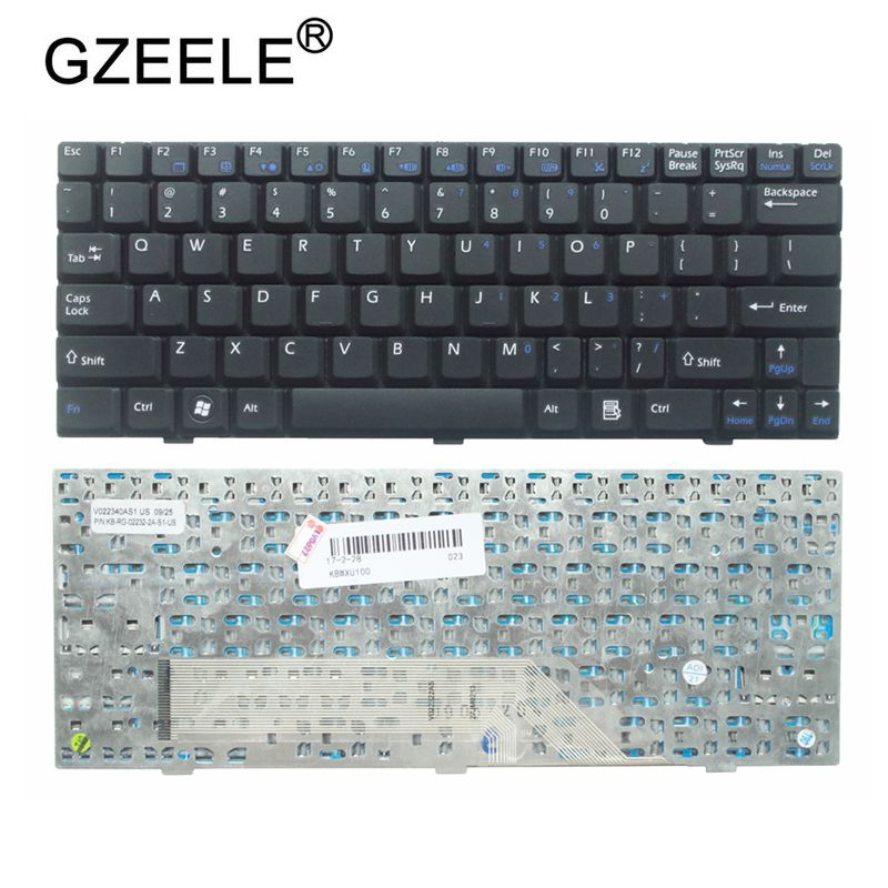 GZEELE NEW Black Keyboard For Medion Akoya E1210 E1212 S1210 S1211 US English Laptop Keyboard