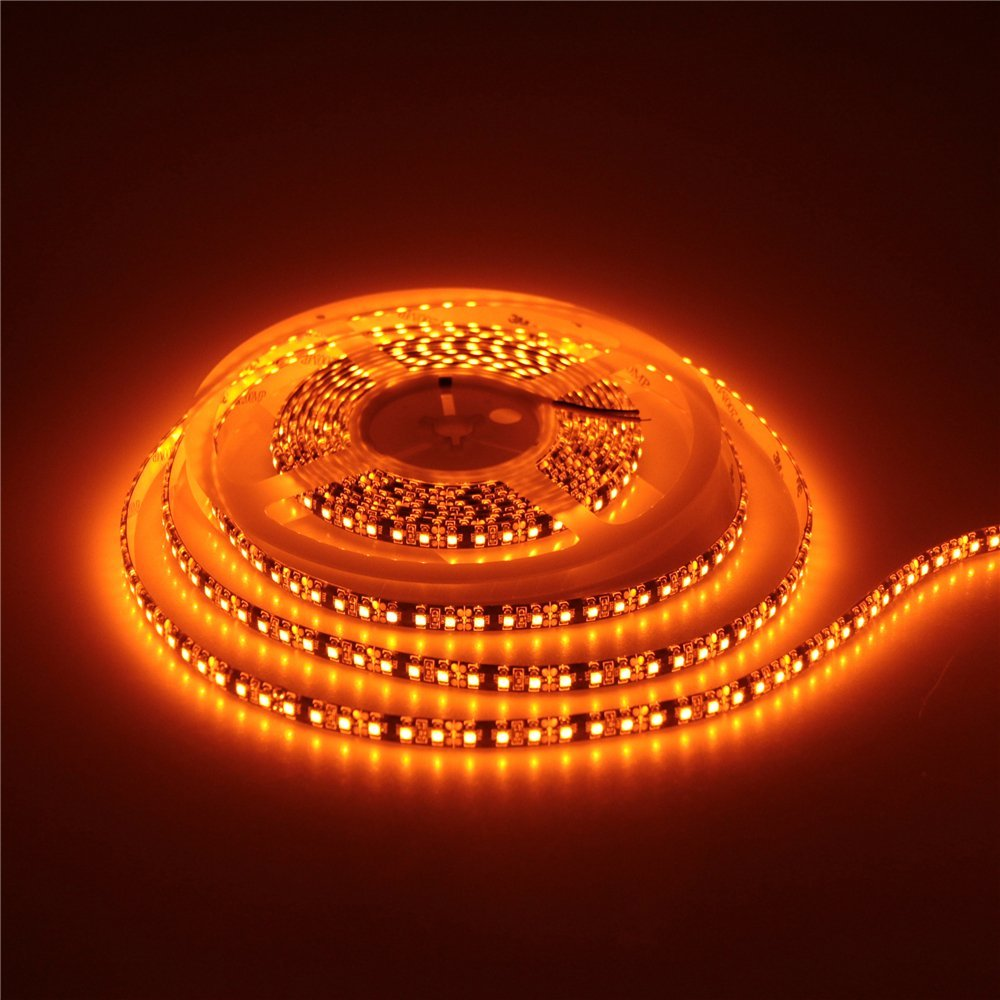 Hot Sale Mokungit 2x5m 3528 Orange Led Flexible Strip Light Lamp 120leds/m Waterproof Ip65 12vdc Black Pcb For Home Hotels Clubs To Produce An Effect Toward Clear Vision Led Strips