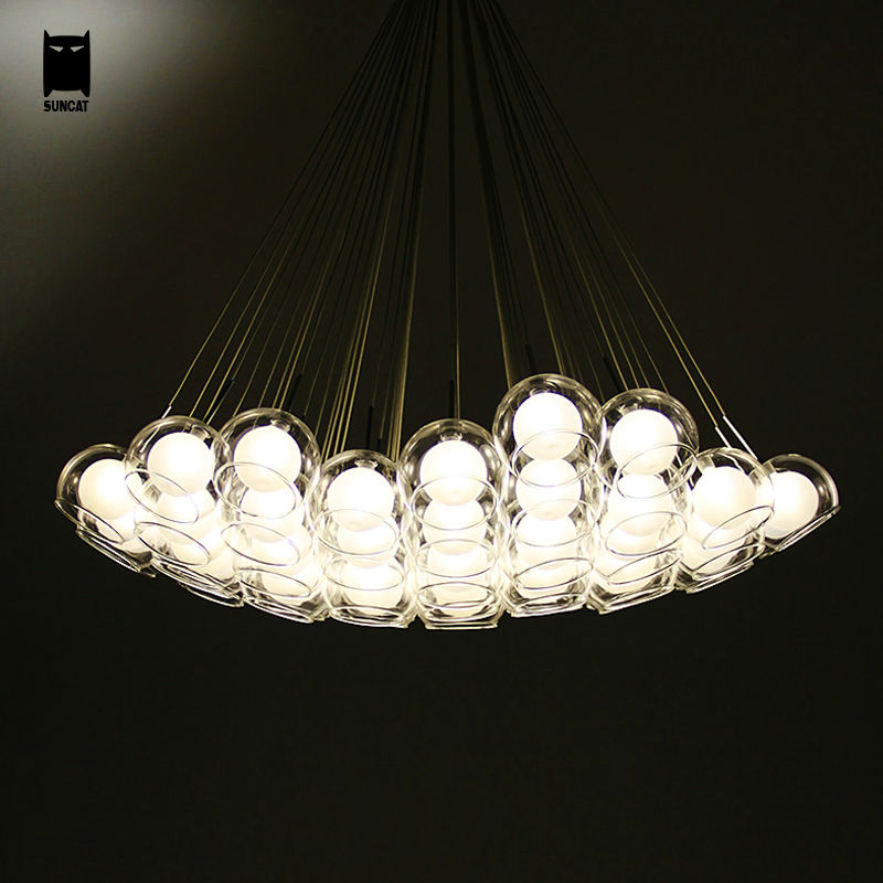 Clear Glass Bubble Ball Globe Sphere Chandelier Light ...