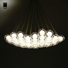 Klarglas Blase Ball Globe Kugel Kronleuchter Leuchte Moderne Nordic Hngen Lampe Lustre Luminaria Fr Wohnzimmer Esszimmer