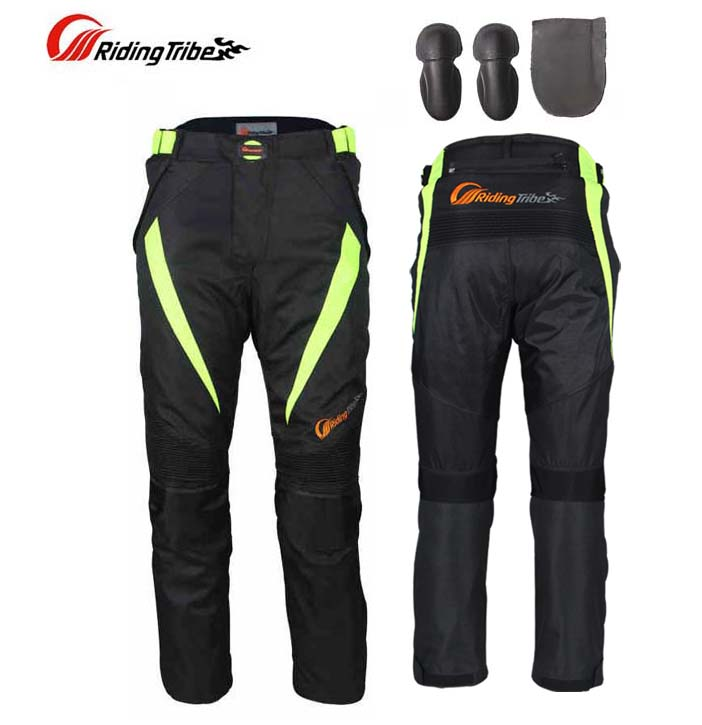 2017 Summer Riding Tribe Motorcycle Mesh Pants Spring cross country trousers Motorbike Racing with protector Knee hip M 5XL