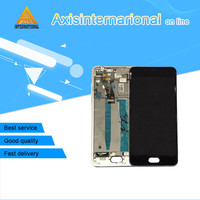 Axisinternational LCD Screen Display Touch Digitizer With Frame For 5 0 Meizu U10 White Black Color
