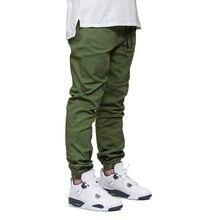 2019 New Men Jogger Pants DOMBBFY Brand Mens Hip Hop Sweatpants Fashion Autumn Drawstring Beam Foot Pants Pleated Pencil Pants drawstring camouflage beam feet jogger pants