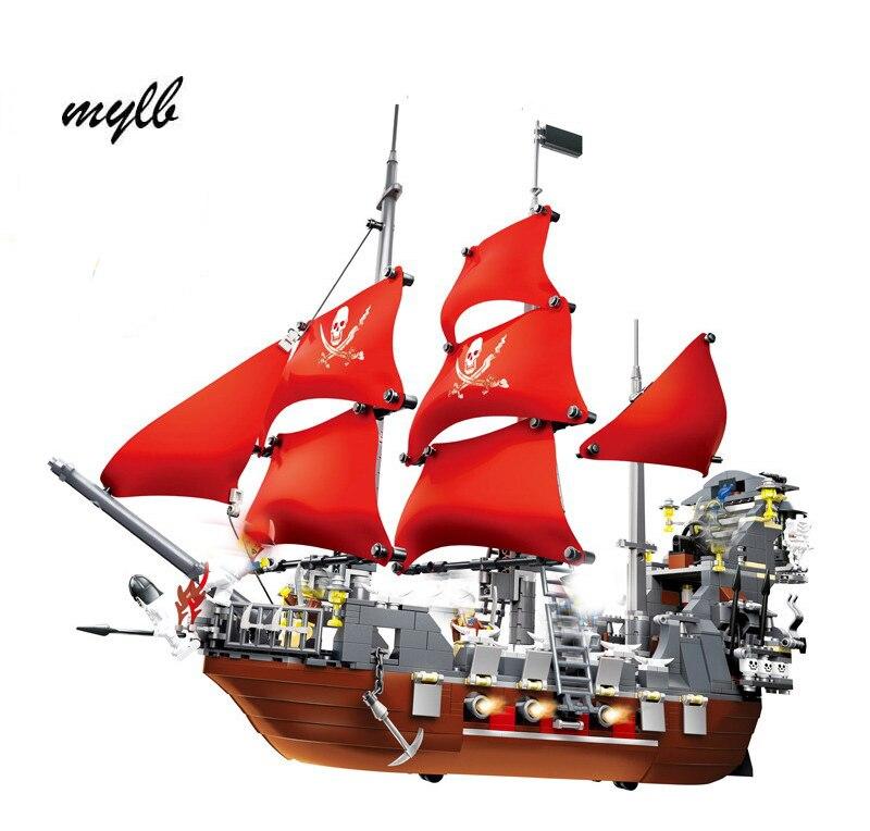 mylb Modell byggsatser kompatibel stad Pirates ship king 3D blocks Educational modell byggnadsleksaker hobbyer för barn