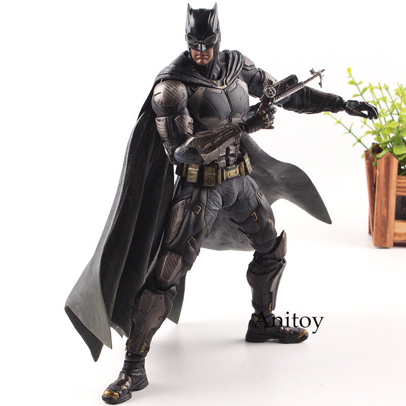 Play Arts Kai DC Justice League Action Figures No.1 Playarts Kai Batman Statue Tactical Suit Ver. PVC Collection Model Toys 25cm xinduplan dc comics play arts kai justice league movie joker batman movable action figure toys 27cm kids collection model 0276