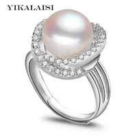 2017 Fashion Pearl Ring Jewelry Of Silver Natural Freshwater Pearl Ring Wedding Rings 925 Sterling Silver