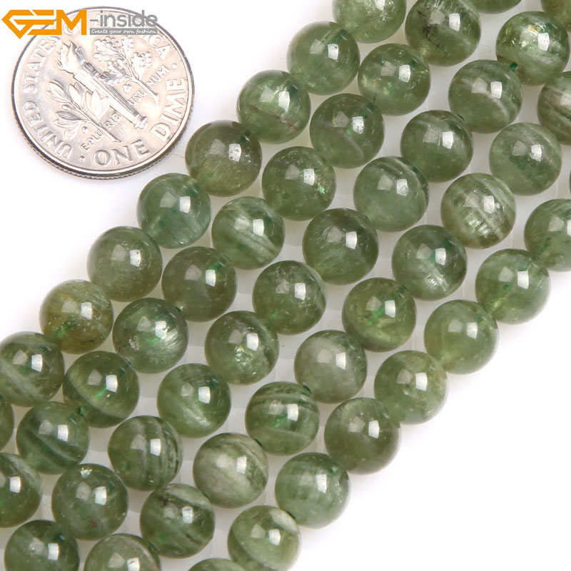 Gem-inside Natural AAA Grade Natural Round Smooth Apatite Beads For Jewelry Making Beads 15 DIY Christmas Gift