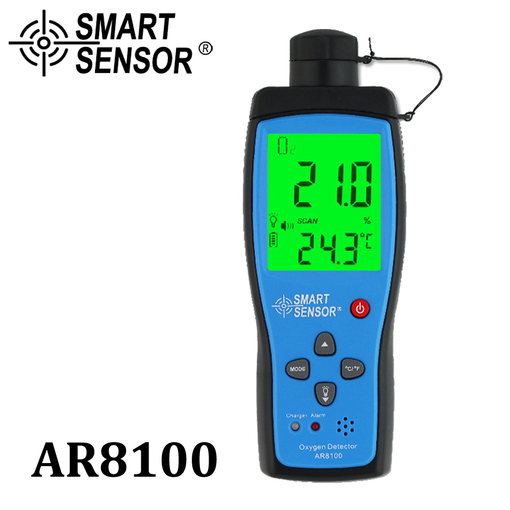 Professional Automotive oxygen detector gas analyzer O2 Meter monitor measuring 0-25% W/ battery Sound and Light Vibration Alarm цена