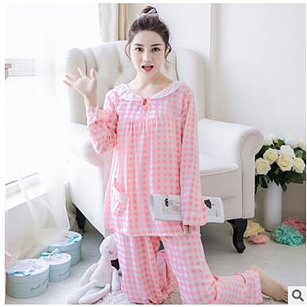 3efb970cd5 2017 Spring Autumn Winter Womens Pajama Sets O Neck Long Sleeve Women  Sleepwear Pajamas Loose Girls Home Suit Pyjama Femme -in Pajama Sets from  Underwear ...