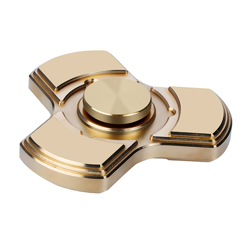 Rotate For More Than 5 Minutes Tri Spinner Fidget Spinner Toys Copper EDC Finger Hand Spinner