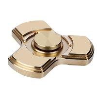 Rotate For More Than 5 Minutes Tri Spinner Fidget Spinner Toys Copper EDC Finger Hand Spinner
