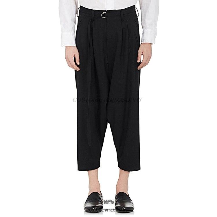 Trendmarkierung 27-44 2017 Neue Herrenbekleidung Gd Friseur Mode Persönlichkeit Beiläufige Breite Beinhosen Plus Size Kostüme