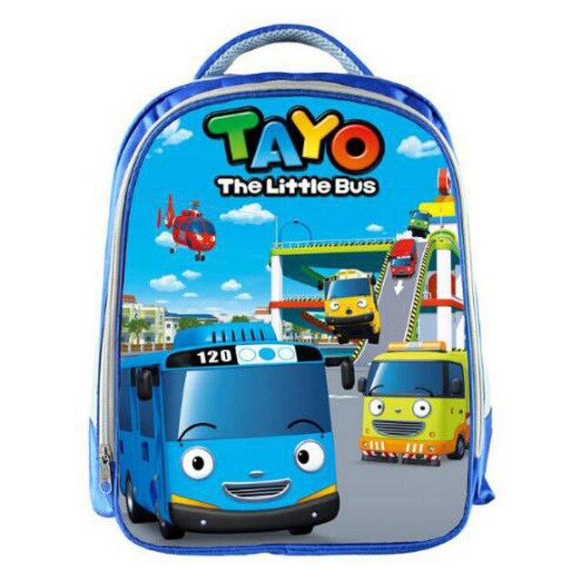 tayo Ônibus azul sacos de escola para adolescentes dos desenhos