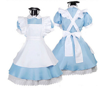 Halloween Maid Costumes Womens Adult Alice In Wonderland Costume Suit Maids Lolita Fancy Dress Cosplay Role