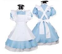 Trasporto libero di Halloween Cameriera Costumi Donne di Età Alice nel Paese Delle Meraviglie Vestito operato Maids Lolita Vestito sexy cosplay carnevale set