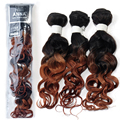 EVET Brazilian Virgin Hair Curly Hair Bundles 7A Unprocessed Ombre Brazilian Hair Two Tone T1B/30 3pcs/set 150g Full And Thick