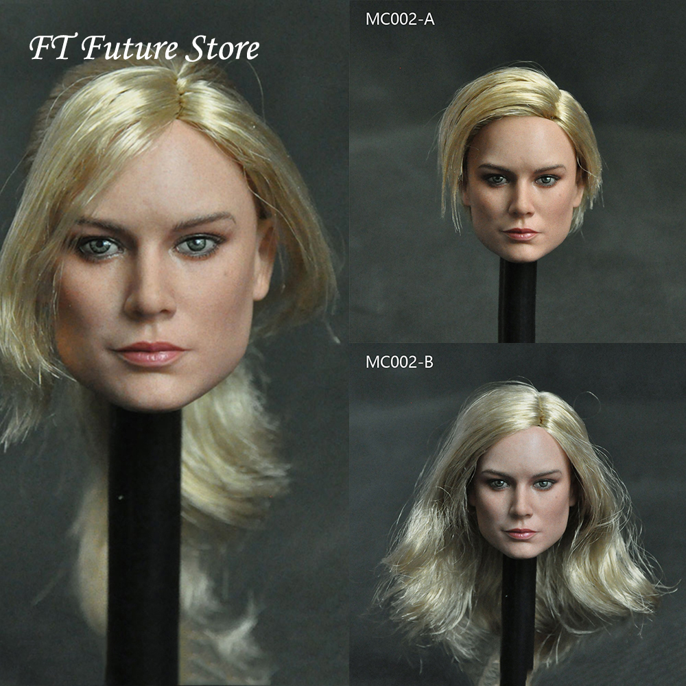 "1//6 Evan Rachel Wood Blond Pale Carving Head Sculpt F 12/"" Phicen Figure Body Toy"
