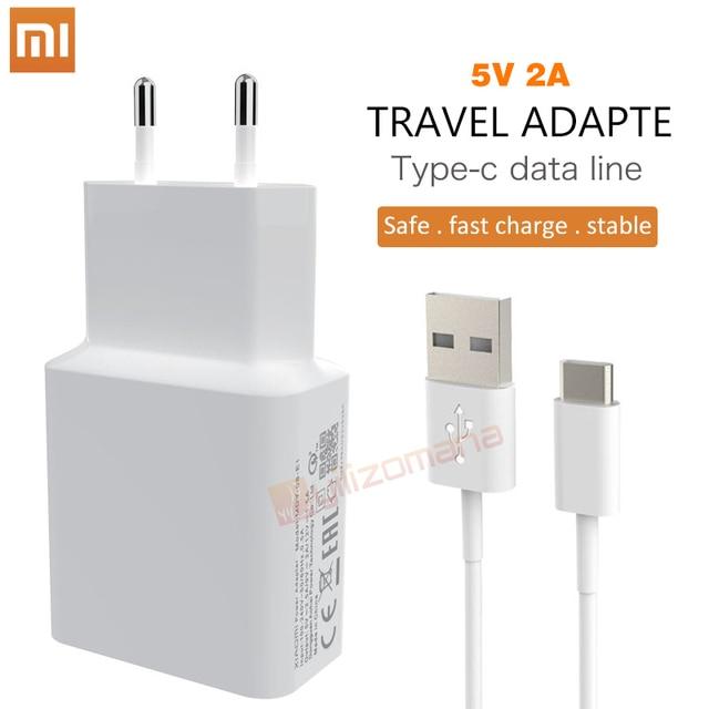 Xiaomi cargador Original de 5 V/2A UE tipo-C Micro USB Cable de datos Cable de adaptador de carga para MI5 max 3 S Redmi Note 3 4 pro 4X4 5X5 5S