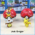 Г-н Froger Chibi Симпатичные модели Marowak Pocket Monster Пикачу Poke Бал Повторить Мяч Игрушка Классические Игрушки Дети Животных Модели собирать