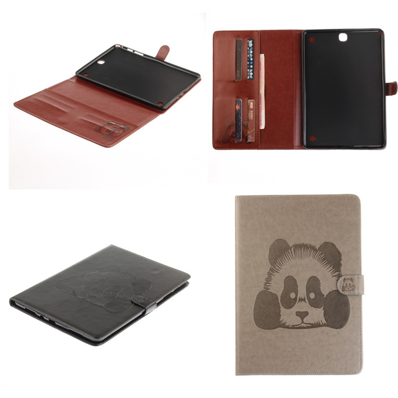 TX For Samsung Galaxy Tab A 9.7 T550 T555 T555C Cover Stand PU Leather With Soft TPU Back Case For SM-T550 SM-T555 Cute Tablet tx soft pink black tpu back case color print tablet cover for samsung galaxy tab s2 9 7 t815c t819c t810 t813 with card slot