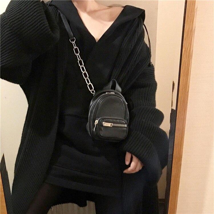 GETSRING женская сумка маленькая черная сумка на плечо Сумочка на цепочке 2017 сумка через плечо сумка на грудь из мягкой искусственной кожи