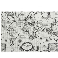 Buy world map fabric and get free shipping on aliexpress 70150 cm map world cotton linen fabric suitable for gumiabroncs Choice Image