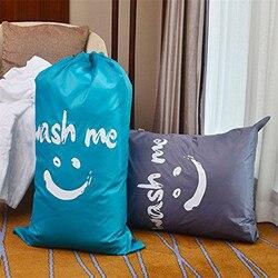 Wielofunkcyjna torba podróżna brudna torba do przechowywania ubrań organizator pralni z zamknięcie sznurkowe ubranie próżniowe gagi na ubrania w Worki na pranie od Dom i ogród na