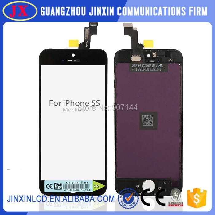 Prix pour 20 pcs/lot Test Complet de haute qualité Pour iphone 5S lcd écran Pour Iphone 5S lcd Noir/Blanc couleur