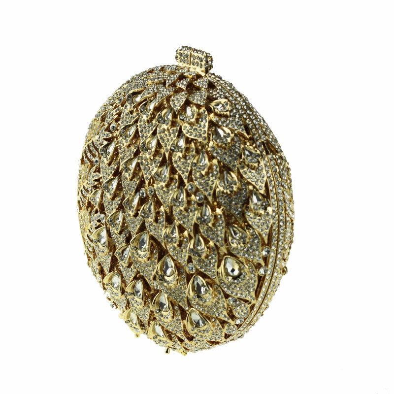 round crystal clutch bag golden6