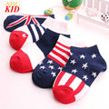 3-12Y Randomly New Arrival Boys Girls Socks Spring Cotton flag Pattern Socks Children Stripes Star Socks Meia KD442